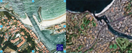 Comparatif Google Maps Géoportail lci.fr tf1.fr