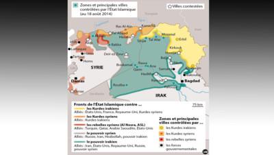 Carte état islamique