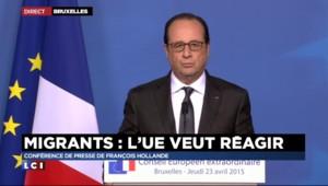 """Immigration : Hollande annonce que l'UE va """"tripler le budget"""" de son opération de sauvetage"""
