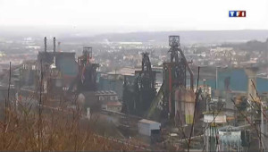 Le site de Florange d'ArcelorMittal, à l'arrêt.