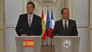 Mariano Rajoy et François Hollande, à l'Elysée, le 28 mai 2013