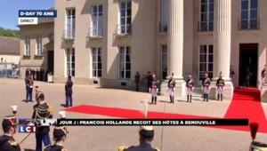 70 ans du Débarquement : la Reine Elisabeth II, en vert pomme, arrive à Bénouville