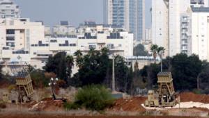 """Israël : batterie """"IronDome"""" de défense anti-aérienne déployée à Tel Aviv le 17/11/12"""