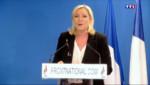 Le 13 heures du 23 mars 2015 : Départementales : poussée spectaculaire du FN, Marine Le Pen toute sourire - 1126.671