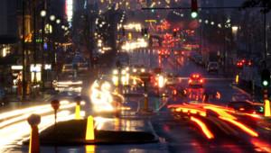 ville nuit trafic routes lumières consommation