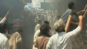 Manifestations au Pakistan, le 21 septemnre 2012