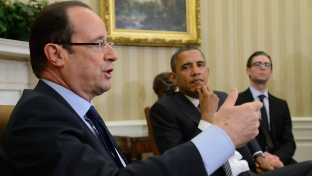 Premire rencontre entre Franois Hollande et Barack Obama  Washington (18 mai 2012)