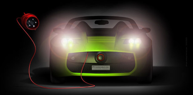 en prise avec la Tesla Roadster