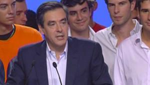 """François Fillon lors de son discours de clôture du """"campus"""" de l'UMP à Royan (7 septembre 2008)"""