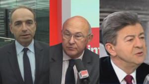 Jean-François Copé, Michel Sapin et Jean-Luc Mélenchon s'exprimaient sur les chiffres du chômage.