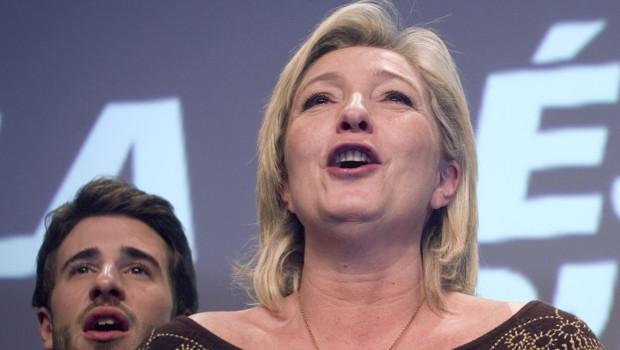 Marine Le Pen lors d'une convention présidentielle à Lille, le 18 février 2012.