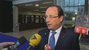 François Hollande à Vilnius, en Lituanie, vendredi 29 novembre 2013