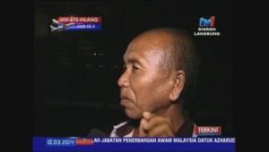 Le pêcheur Azid Ibrahim affirme avoir vu le vol MH370 avant sa disparition.