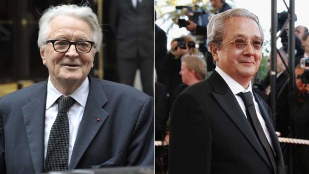 Roland Dumas (gauche) ; Jacques Vergès (droite) - montage