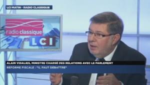 Alain Vidalies au micro de LCI/radio classique