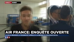 "Incidents chez Air France : ""Discours très ferme"" de Manuel Valls"