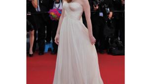 Jessica Chastain en Giorgio Armani lors du Festival de Cannes 2012