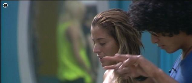 Jamel donne quelques conseils à Anaïs avant la finale.