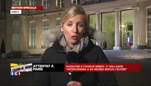 """Attentat à Charlie Hebdo : l'agenda de Hollande """"largement chamboulé"""""""