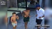 Higuain signe à la Juventus, Patrice Evra l'accueille avec une petite danse
