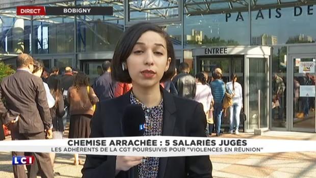 Procès de 5 ex-salariés d'Air France : important dispositif policier autour du tribunal
