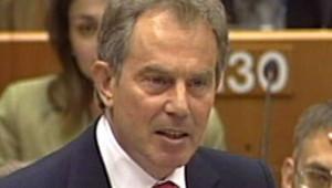 Blair Tony Premier ministre Parlement européen