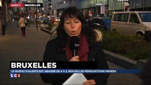 Bruxelles : le niveau d'alerte abaissé de 4 à 3, nouvelles perquisitions
