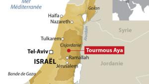Carte de localisation de Turmus Ayya, en Cisjordanie