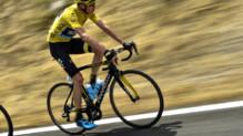 Chris Froome lors de la 14e étape du Tour de France 2015 entre Rodez et Mende le 18 juillet 2015