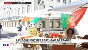 France - Portugal : préparation de la fan zone à Lisbonne