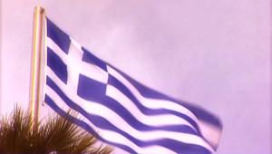 grèce athènes drapeau