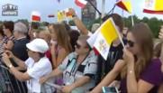 Journées mondiales de la jeunesse : l'arrivée en rock-star du pape François à Cracovie
