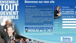 TF1 / LCI Le site Sarkozy.fr