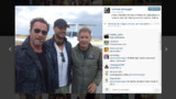 Expendables 3 : Arnold Schwarzenegger et Harrison Ford sur le tournage du film