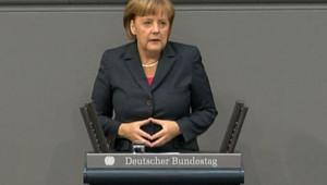 Angela Merkel s'adresse au Parlement allemand, le 14/6/12