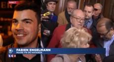"""Jean-Marie Le Pen suspendu : le maire FN de Hayange salue """"une sage décision"""""""