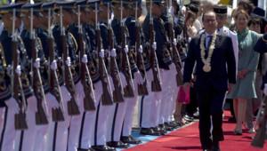 L'arrivée de François Hollande à Manille, le 26 février 2015.