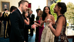 Sasha Malia Obama Ryan Reynolds