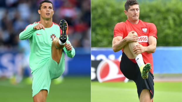 Portugal Pologne Cristiano Ronaldo Robert Lewandowski