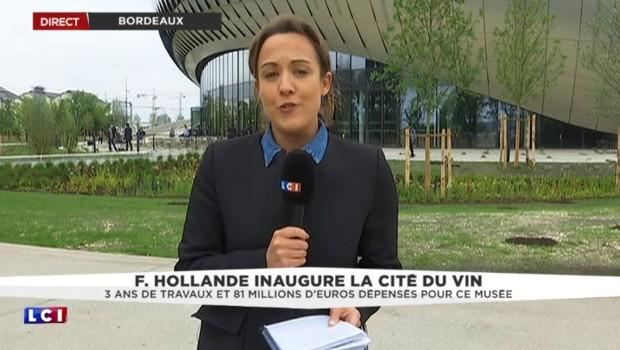 """Bordeaux : Juppé et Hollande inaugurent la Cité du Vin, """"peut-être l'affiche du match avant le match"""""""