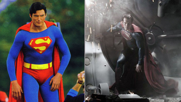 Christopher Reeve Superman Henry Cavill man of steel