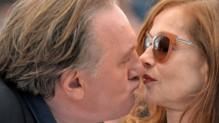 Gérard Depardieu et Isabelle Huppert Cannes Mai 2015