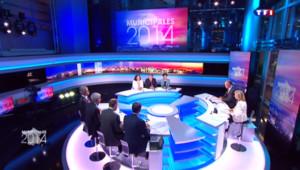 L'édition spéciale de TF1 consacrée au second tour des municipales le 30 mars 2014