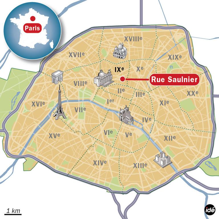 La rue Saulnier à Paris (IXe)