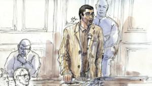 Le physicien Adlène Hicheur lors de son procès devant le tribunal correctionnel de Paris.