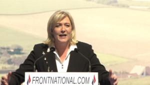 Marine Le Pen en discours Place de l'Opéra - 01/05/2012