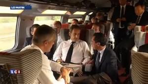Sarkozy ovationné par les militants à Troyes