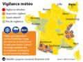 Alerte météo : 12 départements en alerte orange