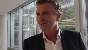 Denis Brogniart à TF1 pour la cérémonie d'ouverture de la coupe du monde au brésil 2014.