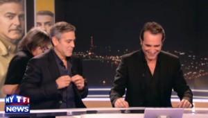George Clooney et Jean Dujardin font les pitres sur le plateau du JT du 20h de TF1